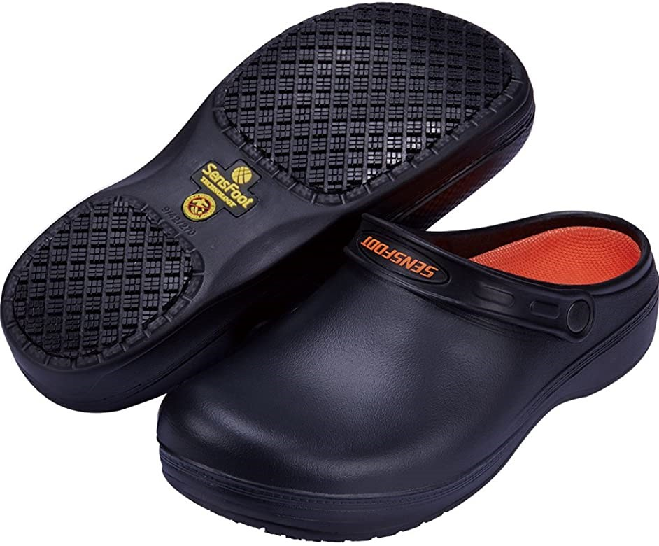 4. SensFoot slip resistant clog.